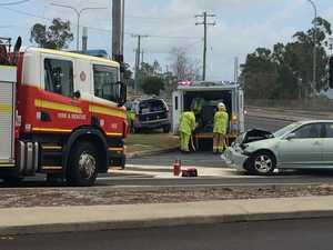 Breslin St car crash