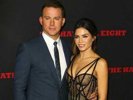 Channing Tatum and Jenna Dewan at The Hateful Eight World Premiere held at the Cinerama Dome in Hollywood, CA.