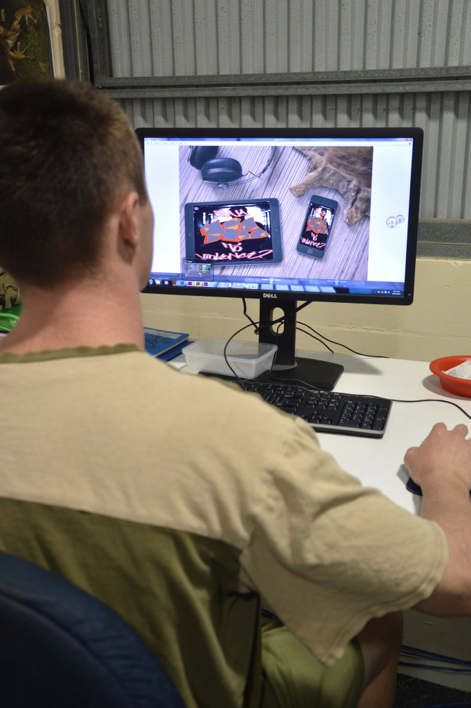 Borallon Training and Correctional Centre inmate working at Barbed Design.