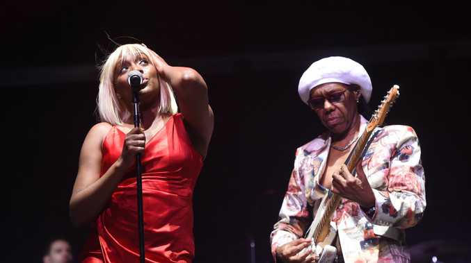 Chic and Nile Rodgers perform at the Mojo Tent at Bluesfest 2018 in Tyagarah near Byorn Bay.