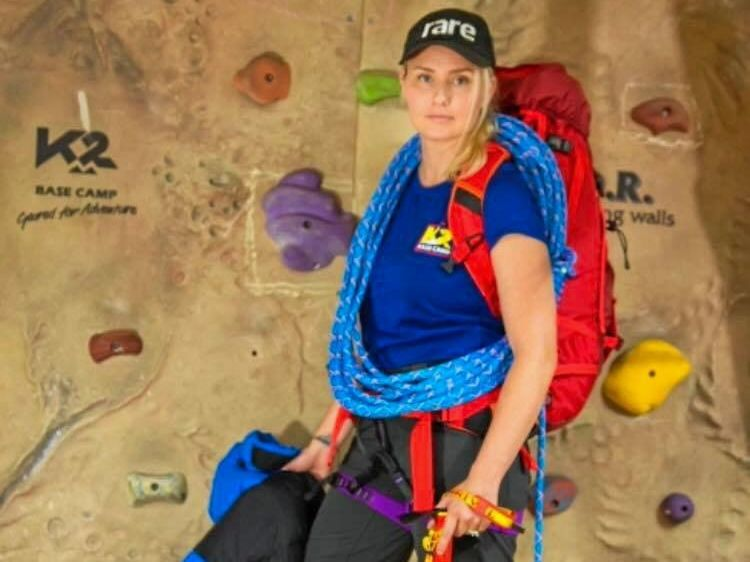 Amy Rendell will climb Mount Island Peak for Rare Cancer Australia  in October. Her grandmother, June passed away in April last year after being diagnosed with small cell carcinoma.