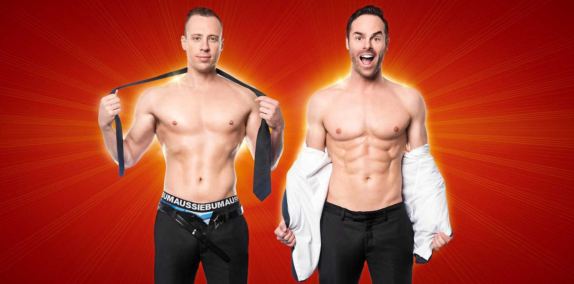 NAKED AMBITION: Christopher Wayne and Mike Tyler are The Naked Magicians.