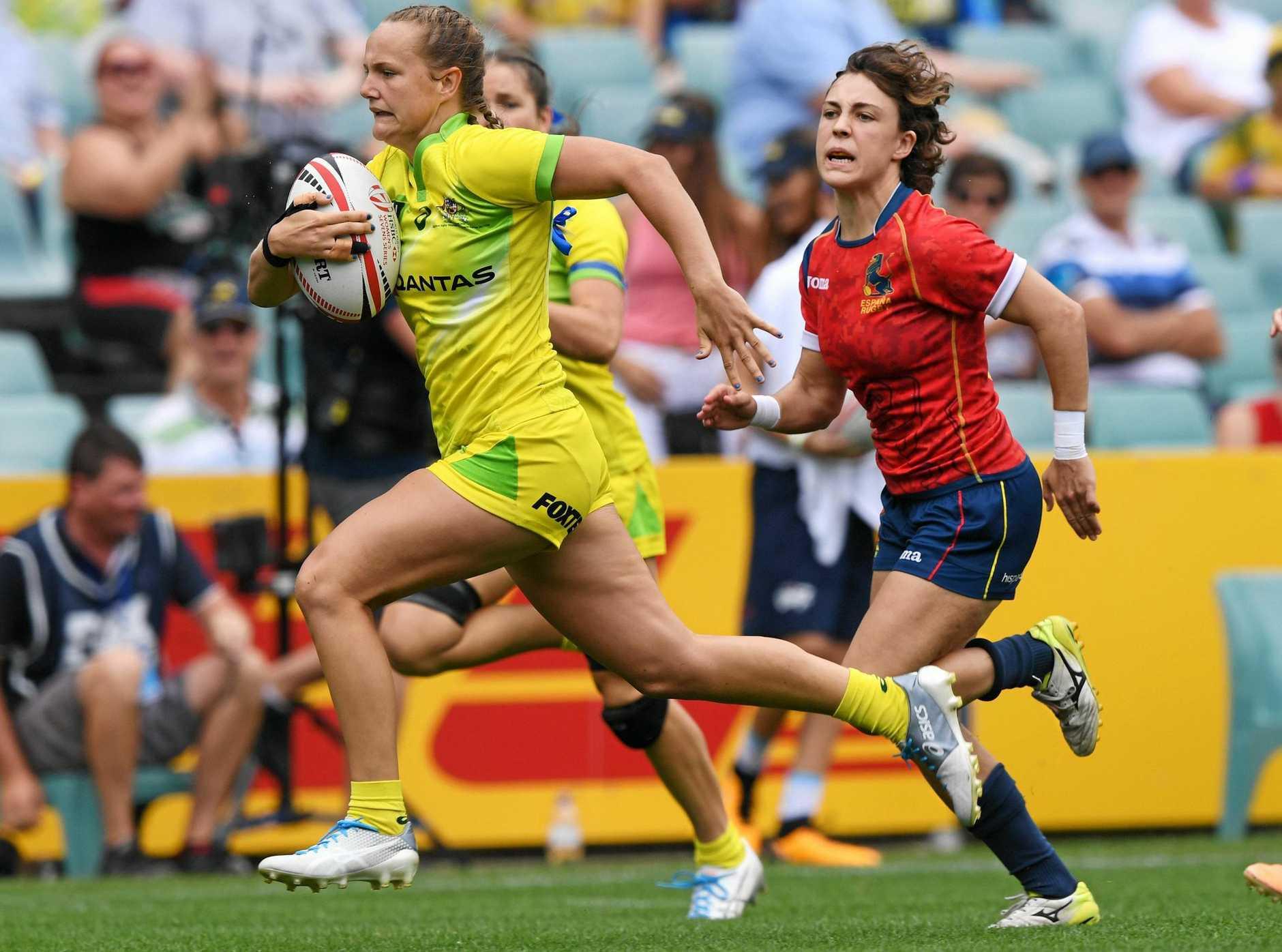 RUNNING: Emma Sykes.