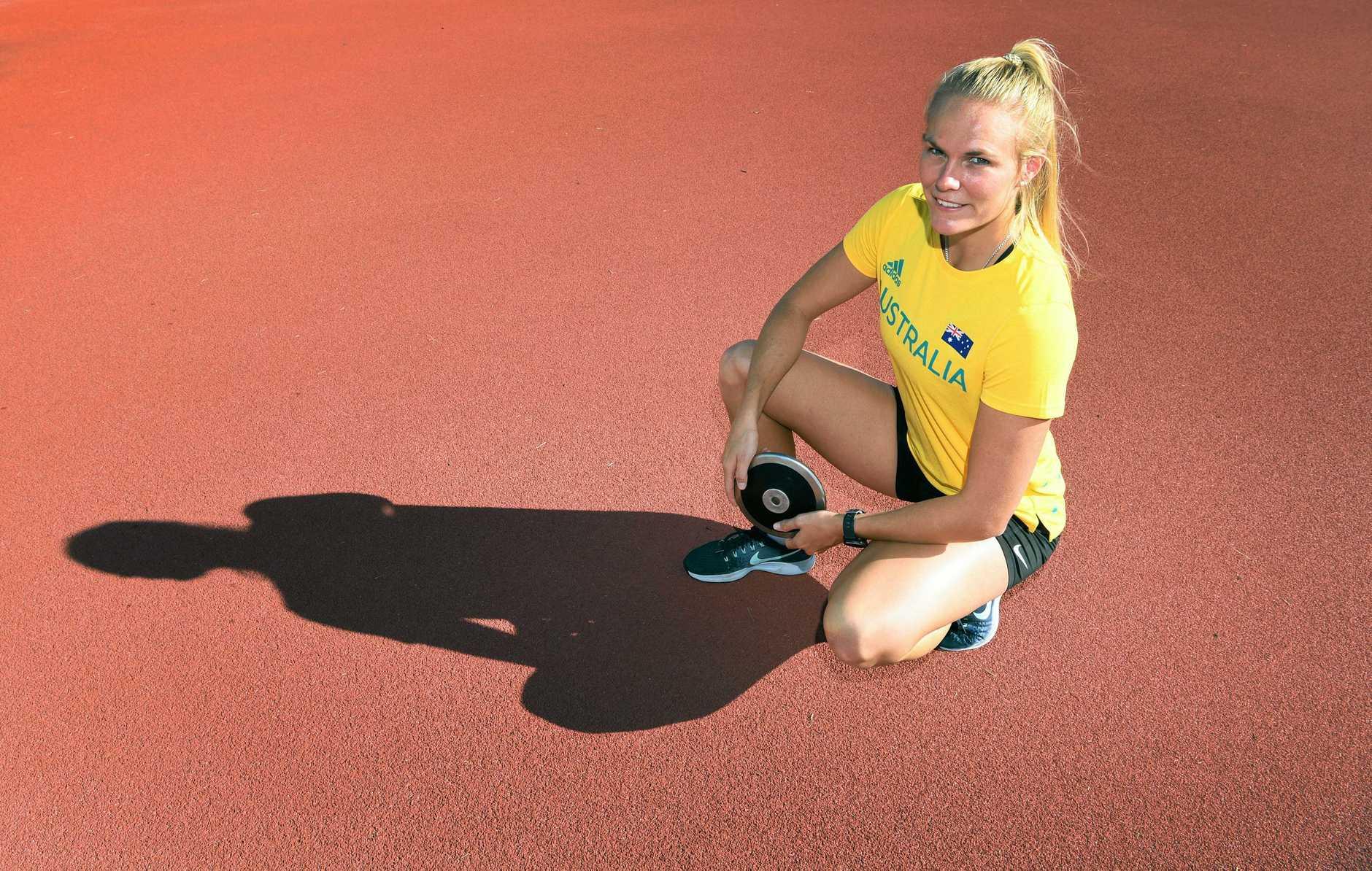 Taryn Gollshewsky training for the Commonwealth Games.