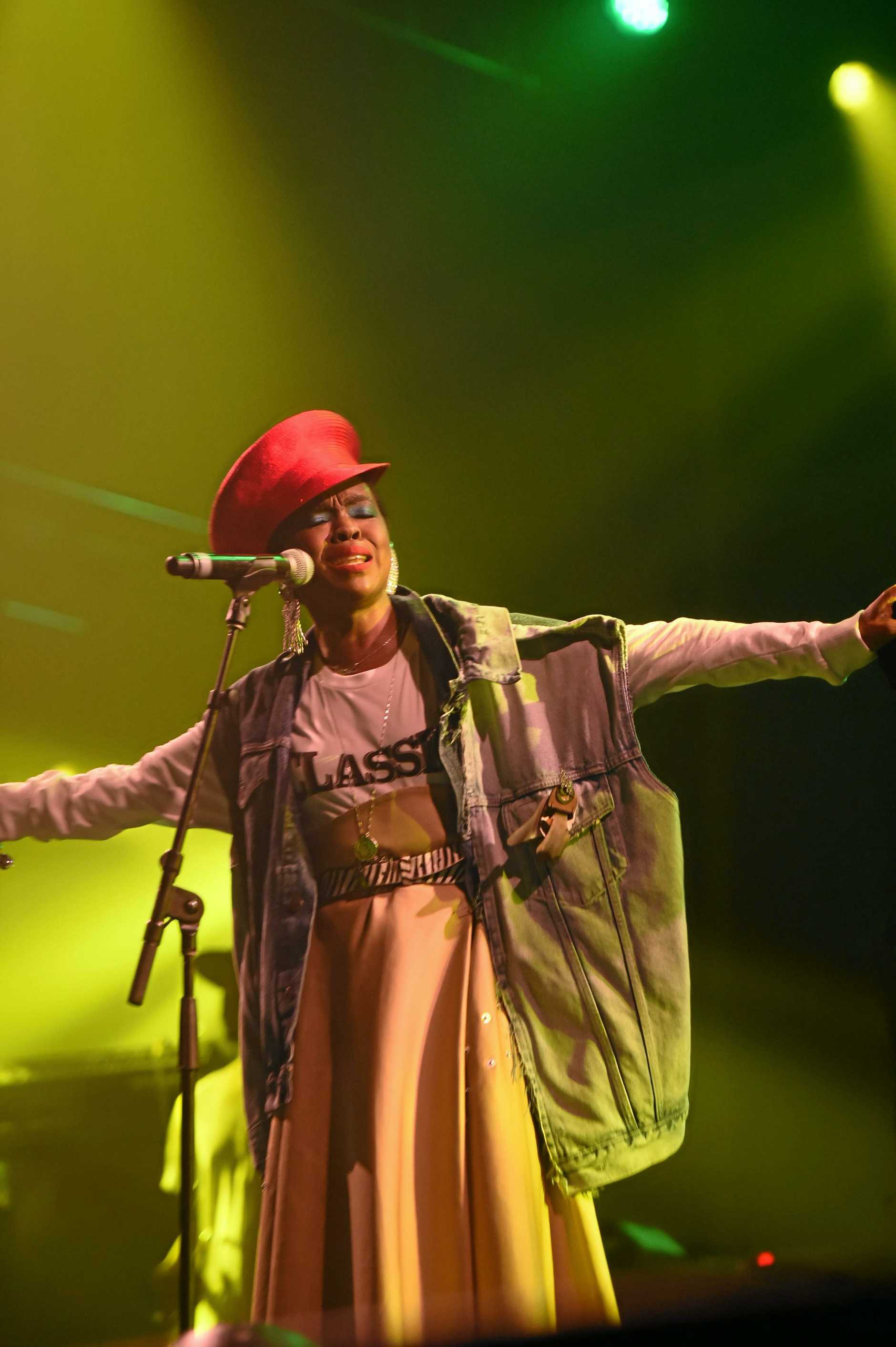 Ms Lauryn Hill performs at the Mojo Tent at Bluesfest 2018 in Tyagarah in Byron Bay.