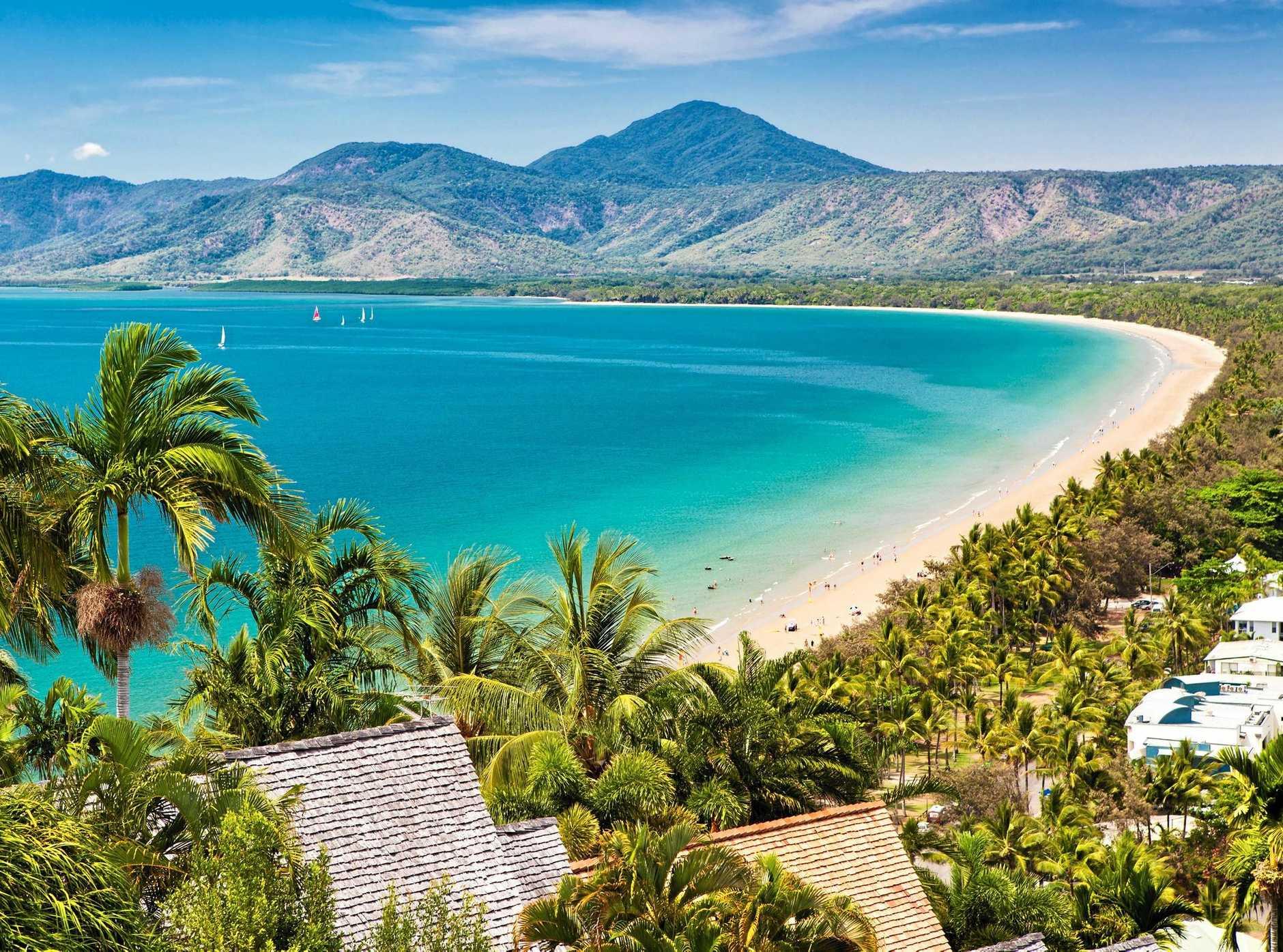 Port Douglas beach on a sunny day.