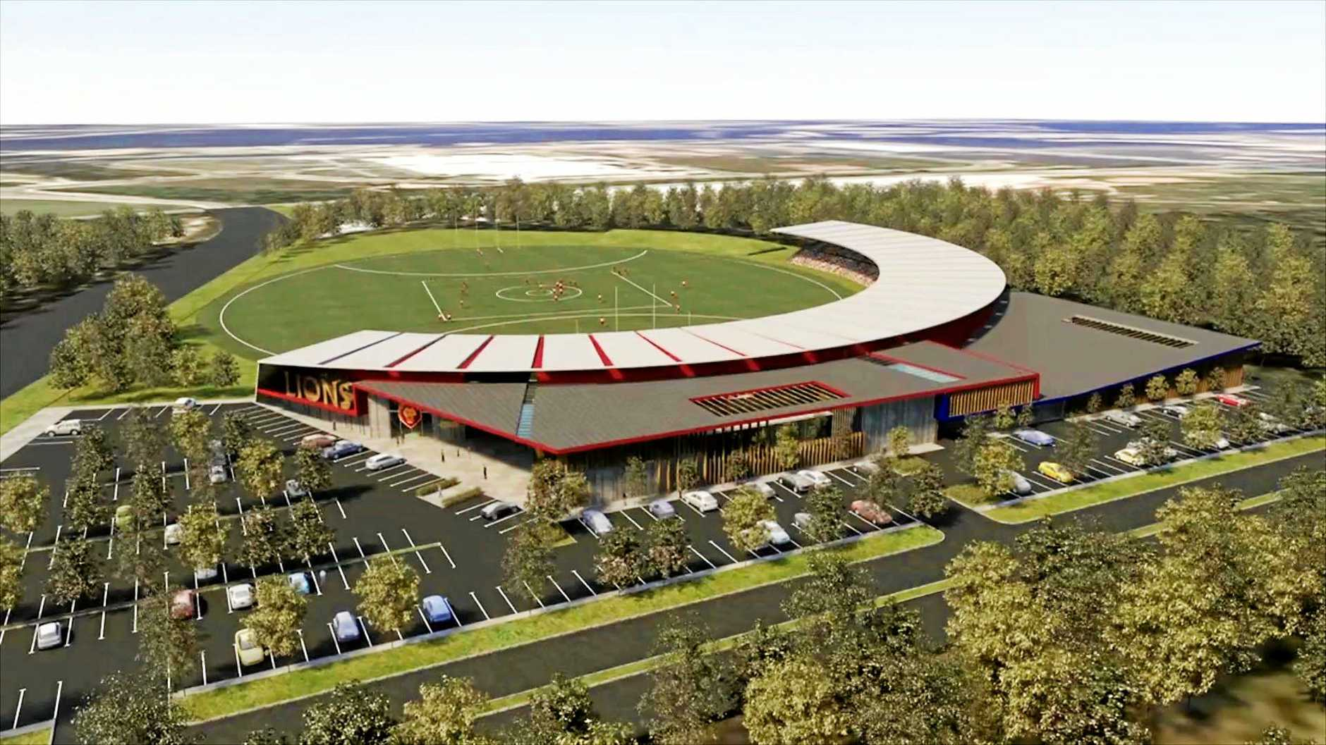 GROWTH: An artist impression of the new Lions stadium at Springfield which the council says will provide economic benefits to surrounding regions.
