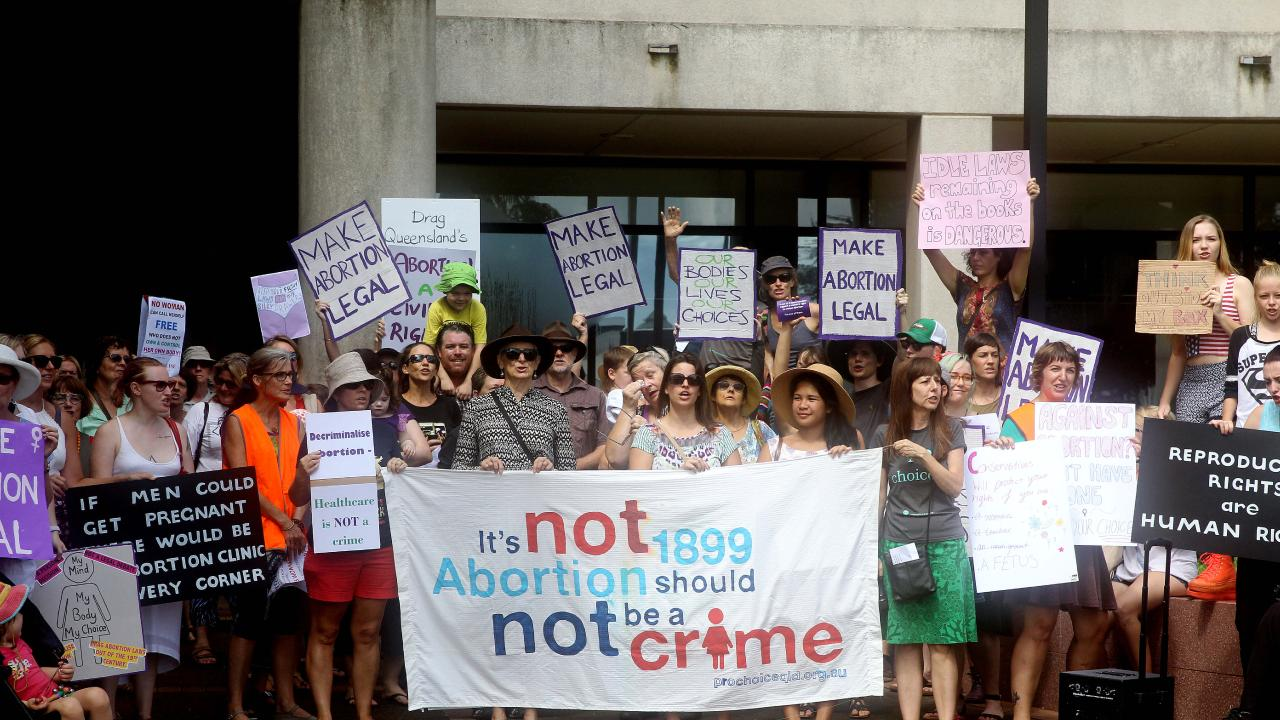Pro-choice supporters rallied in support of decriminalising abortion in Queensland last year. (Pic: Justin Brierty)