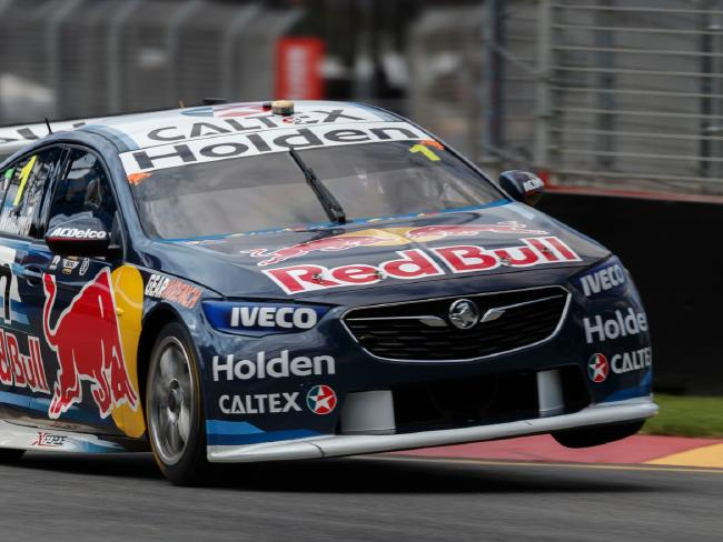 Jamie Whincup sets the pace in Tasmania.