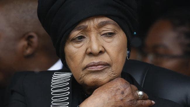 10/12/2013 WIRE: Winnie Madikizela-Mandela, Nelson Mandela's former wife. Picture: AP Photo/Matt Dunham