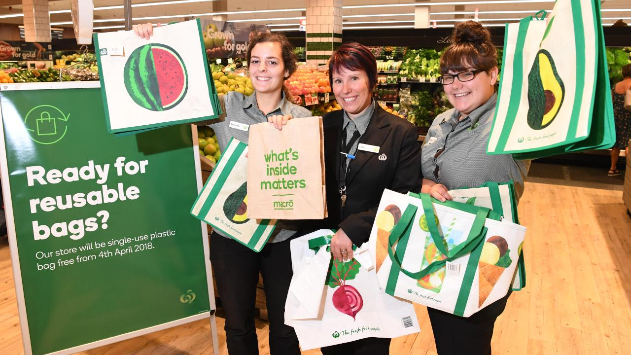 Even if your store isn't on the early list, all single use bags will disappear from Coles and Woolies stores nationwide from 1 July. Picture: AAP Image/James Ross.