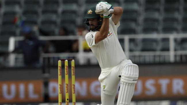 Joe Burns defied the Proteas attack for most of the last session.