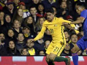 Socceroos' man of the moment hailed after latest goal