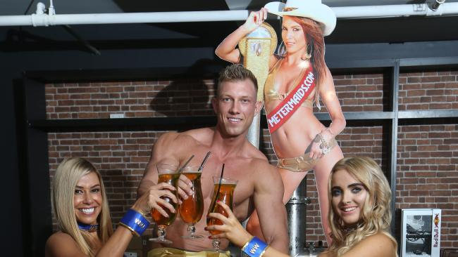 Gold Coast Meter Maids Bec Herft, Patrick Hill and Camille Shakespeare Picture Glenn Hampson