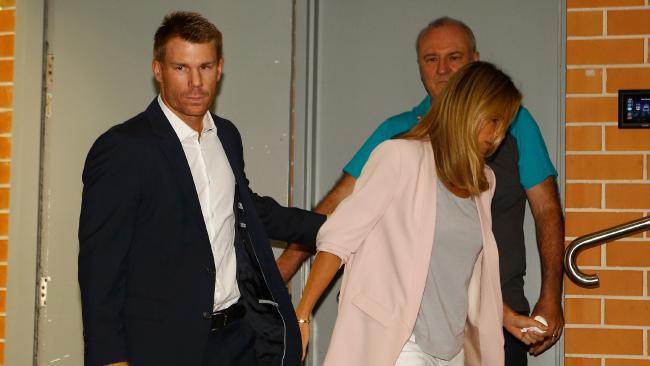 David Warner and wife Candice. (AP Photo/Daniel Munoz)