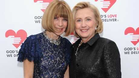 Vogue editor-in-chief Anna Wintour with Hillary Clinton.