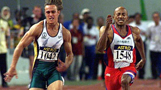 Matt Shirvington competing in men's 100 metre final at the 1998 Commonwealth Games in Kuala Lumpur.