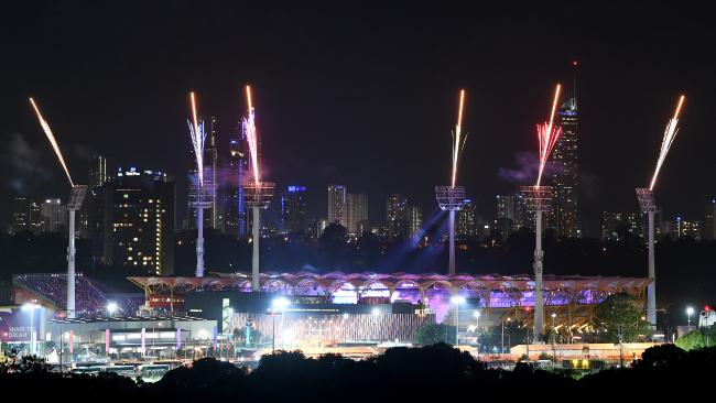 Carrara Stadium is seen during a XXI Commonwealth Games Opening Ceremony rehearsal on Monday. Picture: AAP/Dan Peled