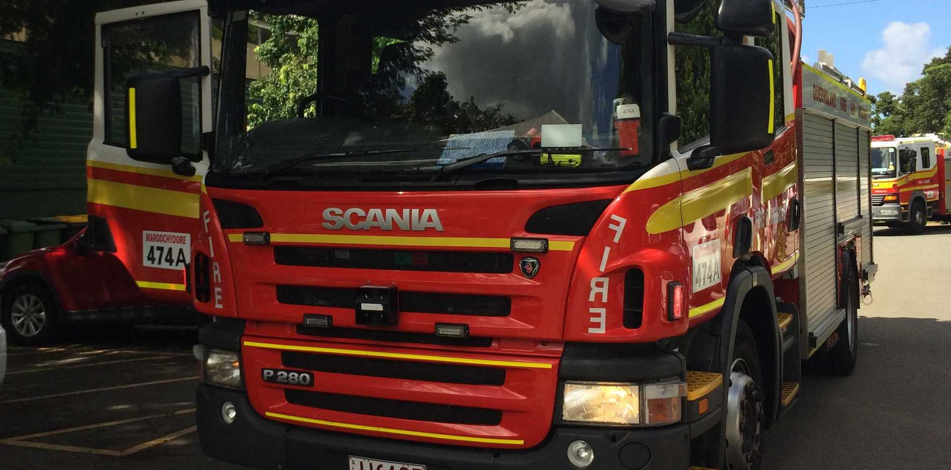 The fire reportedly broke out inside the bathroom at the Fraser Rd home just after 6am.