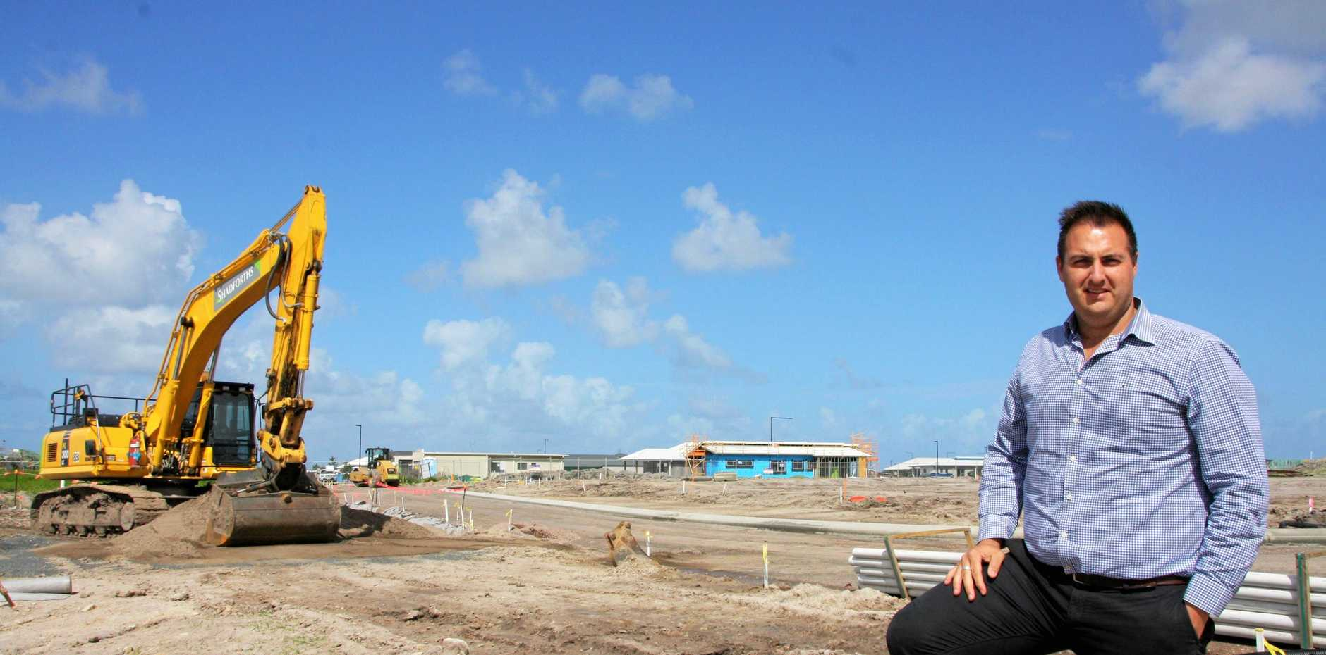 AVID Property Group's Anthony Demiris on site at Harmony, Palmview.