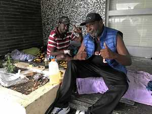 'Yahoo buckaroo!' Homeless brothers buckle in for Iris