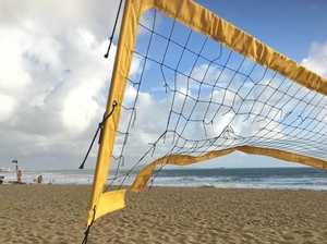 Vandal with knife destroys free beach volleyball nets