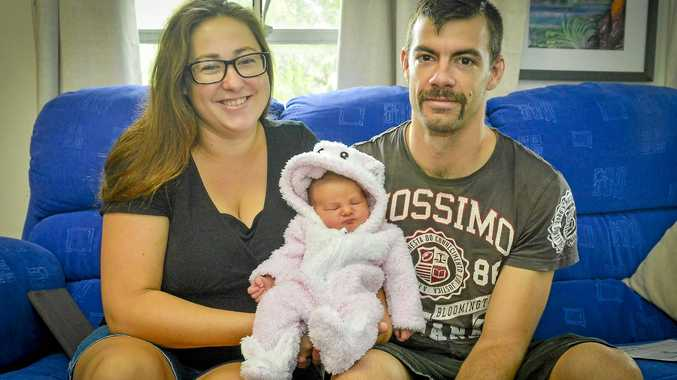 TOO CUTE: Gladstone parents Emma and Ryan Lambert welcomed daughter Eleanor on Easter Sunday at Gladstone Hospital.