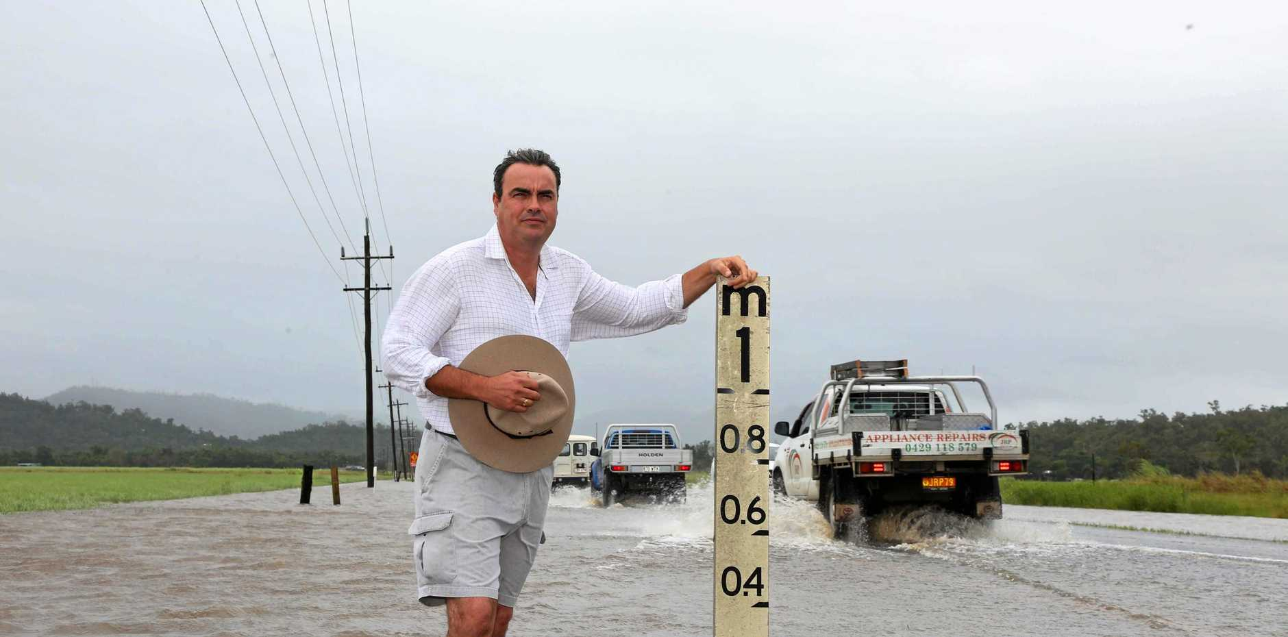 FLOOD FIX: Member for Whitsunday Jason Costigan has been campaigning for a fix to flood-prone Hamilton Plains all week.