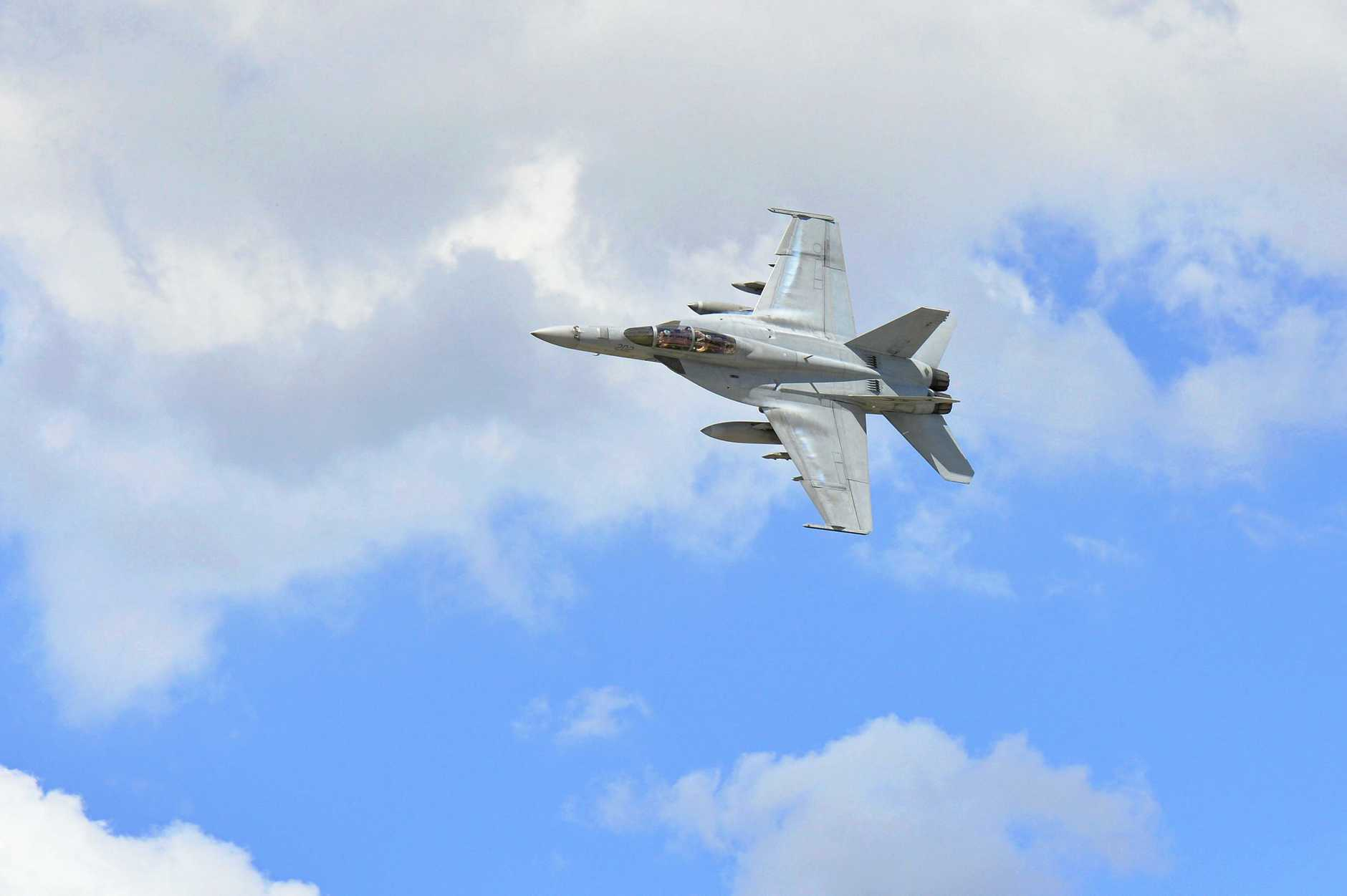 WARNING: The F/A - 18F Super Hornets will be active on Thursday morning this week and next.