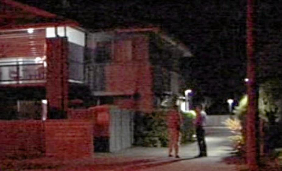 A man was stabbed by a woman known to him at a Gympie Street North, Landsborough address last night.