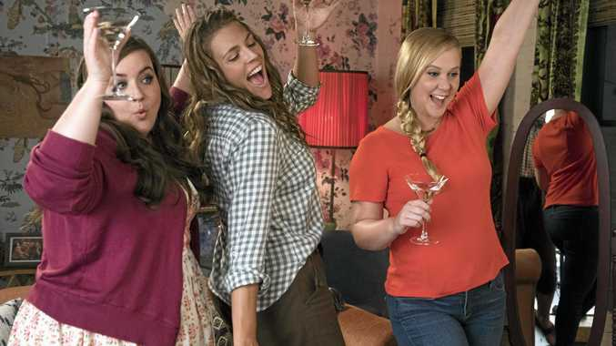 Aidy Bryant, Busy Philipps and Amy Schumer in a scene from the movie I Feel Pretty. Supplied by Entertainment One Films.