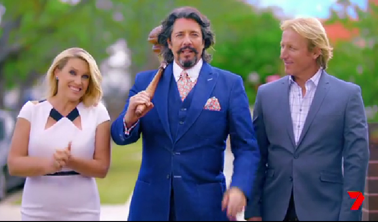 House Rules judges Wendy Moore, Laurence Llewelyn-Bowen and Drew Heath pictured in the 2018 season promo.