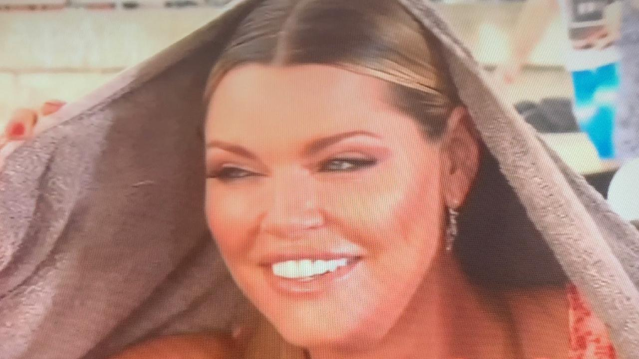 Sophie Monk's rained out Today interview.