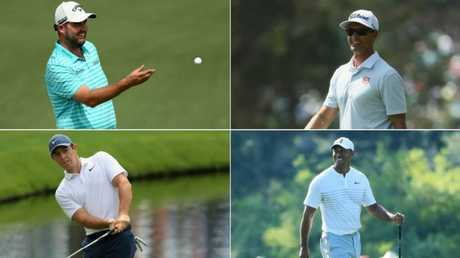 Marc Leishman and Adam Scott will get a front-row seat to the most hyped show at the Masters in years after being paired with Tiger Woods and Rory McIlroy for the opening rounds.