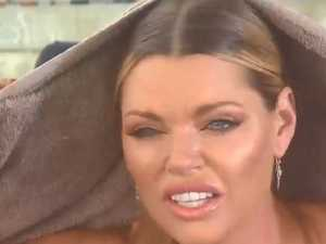 Sophie Monk battered by Cyclone Iris winds