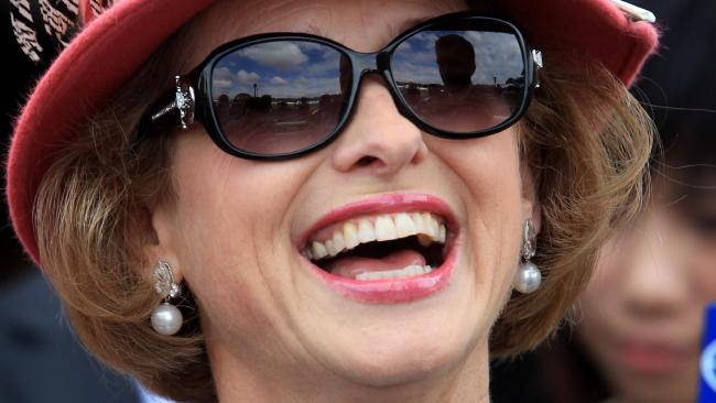 Trainer Gai Waterhouse celebrates after racehorse Landing ridden by jockey Rawiller won Race 7, the Doncaster Mile on 2012 BMW Doncaster Day at Royal Randwick Racecourse in Sydney.