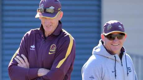 Broncos coaches Wayne Bennett and Kevin Walters.