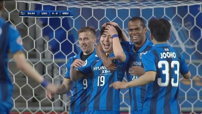Ulsan add a fourth goal against Victory