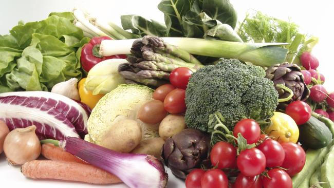 DELICIOUS COLOURS: Less than one in 10 male adolescents eat enough fruit and vegetables.