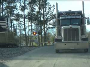 STUNNING VIDEO: Train slams into truck