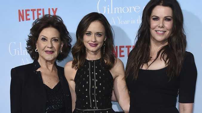'Very satisfied'. Gilmore Girls stars Kelly Bishop, Alexis Bledel and Lauren Graham.