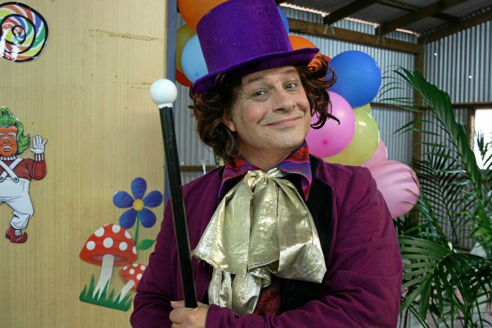 Willy Wonker will be leading the Easter holiday festivities at the The Ginger Factory in Yandina.
