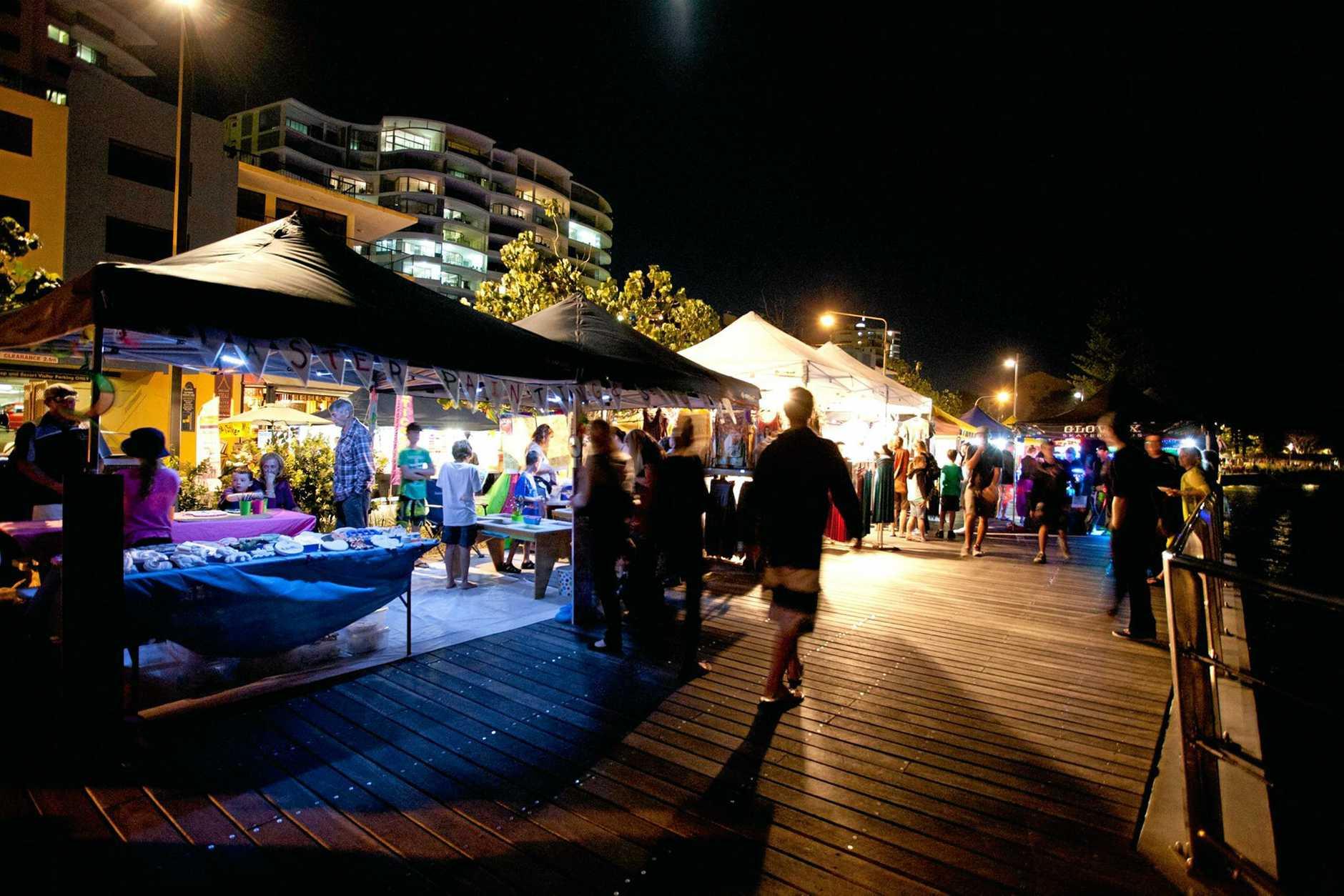 Don't miss the Moonlight Markets on Bulcock Beach Esplanade.