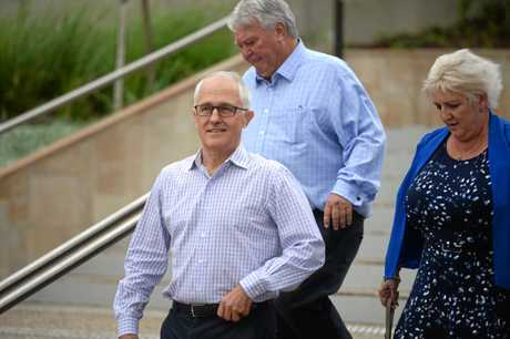 PM Malcolm Turnbull in Rockhampton for Rookwood announcement.