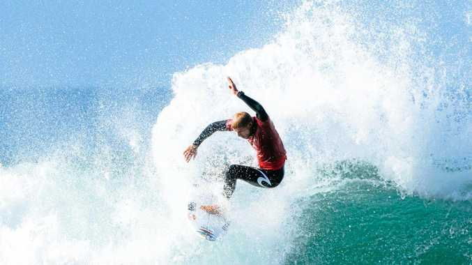 Mick Fanning is into the final of the Rip Curl Pro at Bells Beach, 2018.