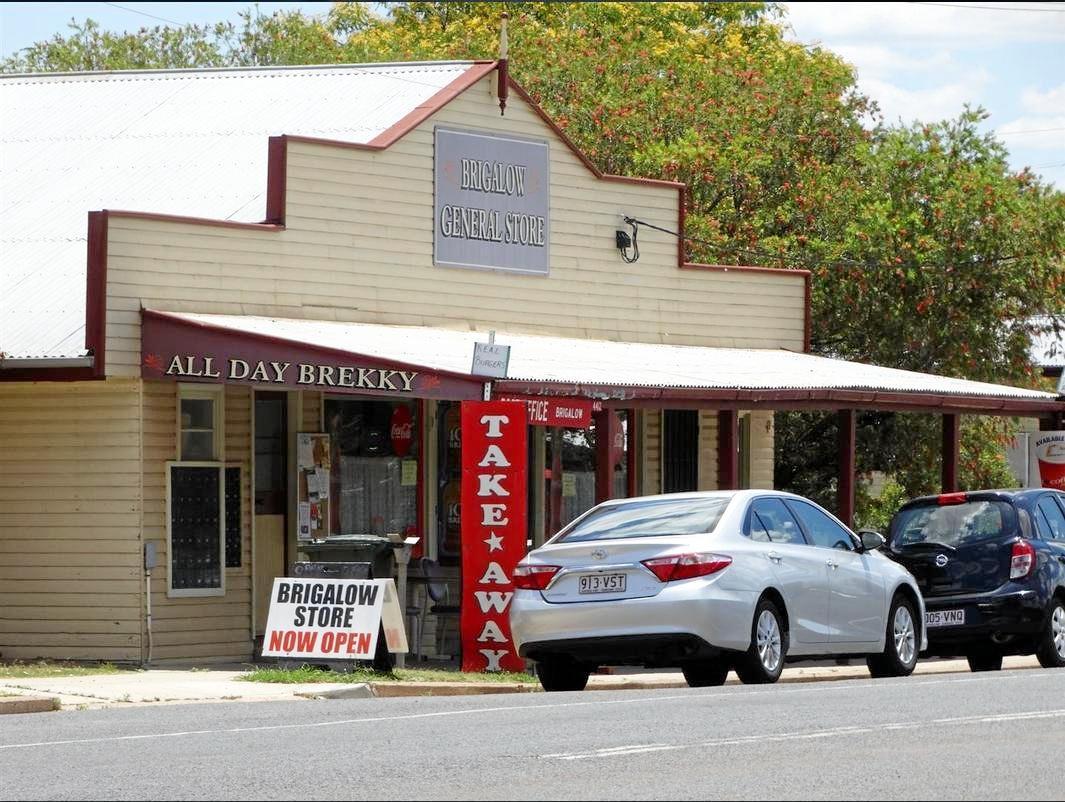 LOCATION, LOCATION, LOCATION: A popular meeting spot, near 14-16 Mulga St, Brigalow.
