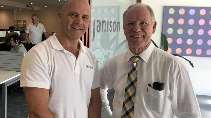 Janison CEO Tom Richardson. with the Member for Coffs Harbour Andrew Fraser.