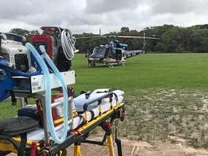 Boy, 8, suffers serious cut after slipping under ride-on