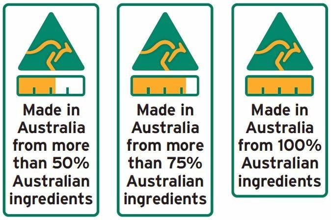 New country of origin food labels.