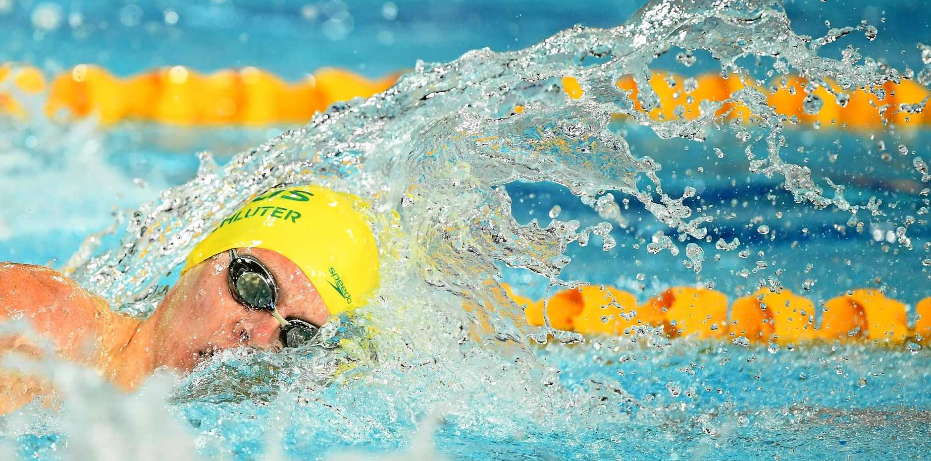 SILVER MEDALLIST: Liam Schluter during the men's S14 200m freestyle final at the Gold Coast.